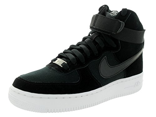 Nike Kids Air Force 1 High (GS) Black/Black/White Basketball Shoe 5 Kids US (High Top White Air Force 1 compare prices)