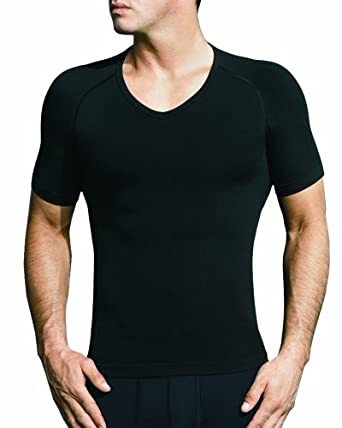 EQUMEN Men's Core Precision Undershirt Short Sleeve V Neck XXL Black