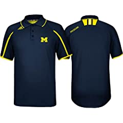 Michigan Wolverines Adidas 2013 Navy Coaches Sideline Performance Polo by Unknown