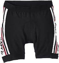 Craft Craft3jvélo Logo Short Enfant Noir/Blanc/Rouge FR : 12 ans (Taille Fabricant : 146-152)
