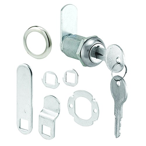 Prime-Line Products U 9945 Drawer & Cabinet Lock, 1-1/8 in., Diecast, Stainless Steel, 13/16 in. Max. Panel (Metal Cabinet Door Locks compare prices)