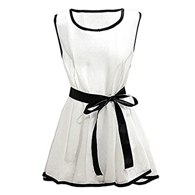 Coromose Summer Fashion Lady Chiffon Sleeveless Shirt