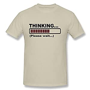 Printed Thinking Please Wait Boy's Hip Hop Ultra Cotton Tee