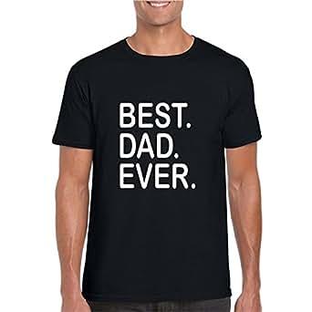 YaYa Cafe Men Cotton Best Dad Ever Dad T-shirt Black - S