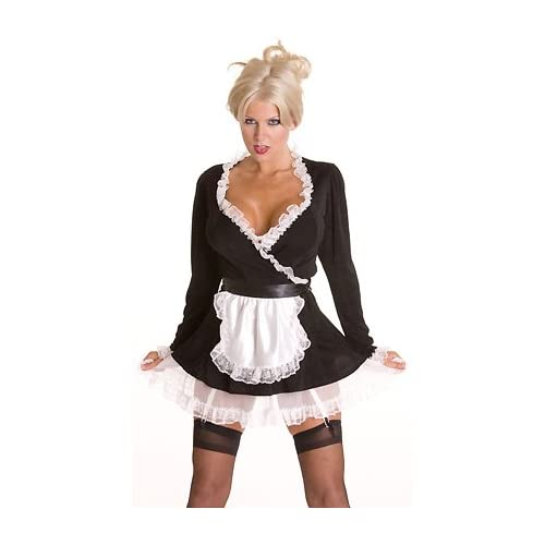 Sexy Halloween Costumes: Seductive Maid - Women's Sexy French Maid Costume Lingerie Outfit