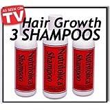 3 Nutrifolica Hair Regrowth Growth Shampoo Naturaly Stop Hair Loss Thin Hair and Grow Hair