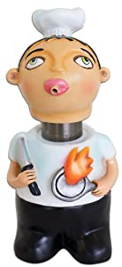 Kitchen Cook Whimsical Chef Soap Spitter Lotion Dispenser