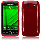 Blackberry Torch 9860 Gel Skin Case / Cover - Red PART OF THE QUBITS ACCESSORIES RANGEby TERRAPIN
