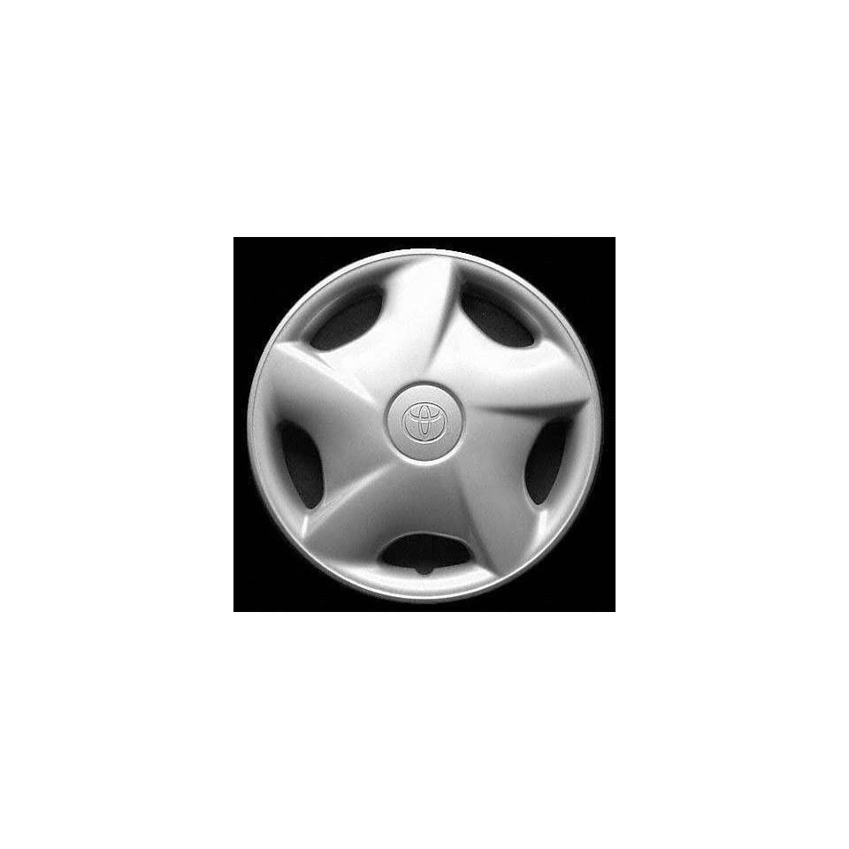 97 98 TOYOTA TERCEL WHEEL COVER HUBCAP HUB CAP 14 INCH, 5 SPOKE BRIGHT SILVER 14 inch (center not included) (1997 97 1998 98) T261260 FWC61090U20
