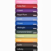 Aurorae Yoga Mats - Ultra Thick, Extra Long with Focal point Icon and Illuminating Colors. SGS approved Free from Phthalates and Latex. All products guaranteed. Midnight