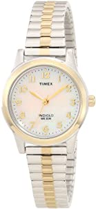 Timex Women's T2M828 Elevated Classics Dress Two-Tone Expansion Band Watch