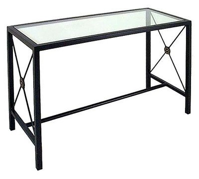 Image of Grace Small Console Table with Glass Insert (GMC-CO32)