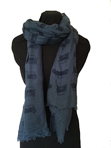 blue-with-blue-mini-cooper-car-design-scarf-long-scarf-with-frayed-edge
