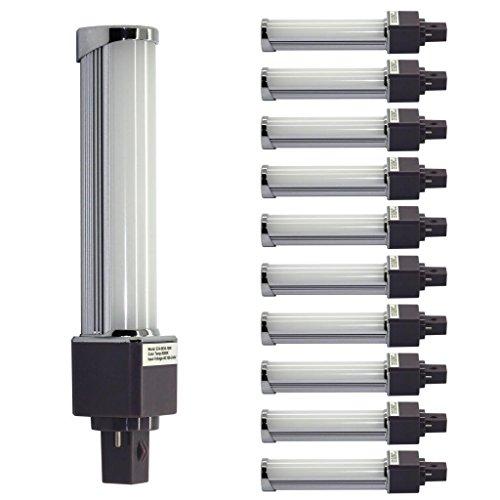 Shine Glory Lighting 10W G24 Led Plug Lamp Samsung 5630Leds Base Rotatable Daylight White(6000K)