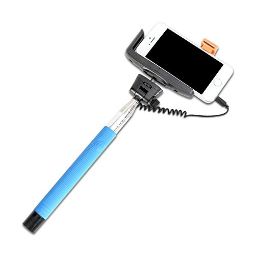 selfie stick gmyle wired handheld monopod battery free with built in audio cable control for. Black Bedroom Furniture Sets. Home Design Ideas