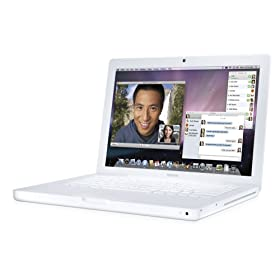 Apple MacBook MB062LL/B 13.3-inch Laptop (2.2 GHz Intel Core 2 Duo Processor, 1 GB RAM, 120 GB Hard Drive, 8x SuperDrive) White