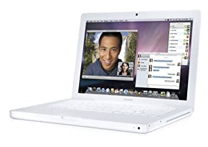 Apple MacBook MB061LL/B 13.3-inch Laptop  (2.0GHz Intel Core 2 Duo Processor, 1 GB RAM, 80 GB Hard Drive, Combo Drive) White