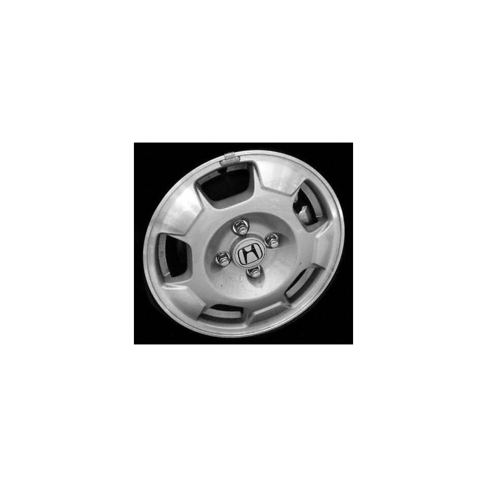 02 03 HONDA CIVIC SEDAN ALLOY WHEEL RIM 14 INCH, Diameter 14, Width 5.5 (5 SPOKE), Standard on hybrid vehicles, BRIGHT SILVER, 1 Piece Only, Remanufactured (2002 02 2003 03) ALY63845U20