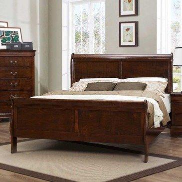 Homelegance Mayville Sleigh Bed In Brown Cherry - Queen front-416402