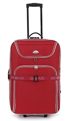 Trolley-valigetta - 56 cm, estendibile - rosso