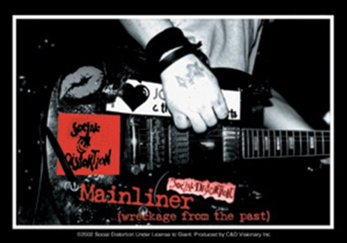 Licenses Products Social Distortion Mainliner Sticker - 1