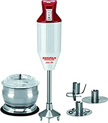 Maharaja Whiteline Jazz Deluxe HB 106 125-Watt Hand Blender with Attachment (Red/White)