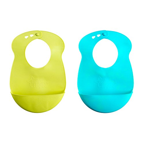 Tommee Tippee Explora Easi Roll Bib, Blue and Green, 2 Count - 1