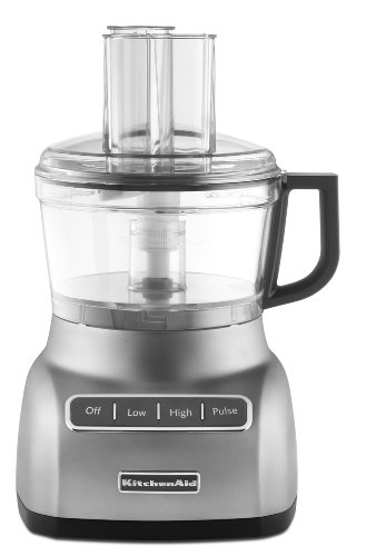 KitchenAid KFP0711CU 7 Cup Food Processor, Contour Silver (Cup Kitchenaid compare prices)