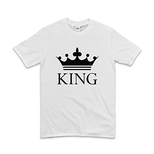 KING QUEEN &-MAGLIETTA A MANICHE CORTE White - King Large