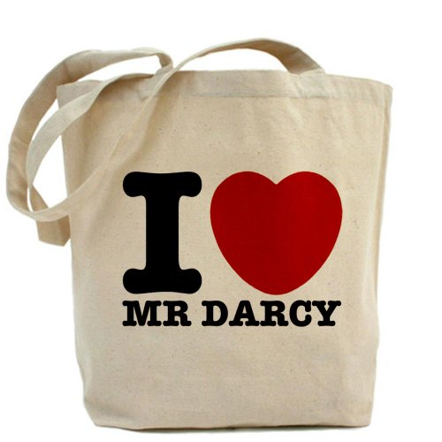 Cafepress I Love Darcy - Jane Austen Tote Bag - Standard Multi-Color
