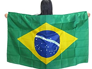 Buy World Cup 2014 Brazilian FlagMade to Wear 3ft×5ft, Unisex. Vibrant Colors. Special... by Tuberband