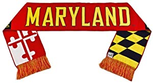 Buy Maryland Terrapins Scarf - UM University of Maryland by Tradition Scarves