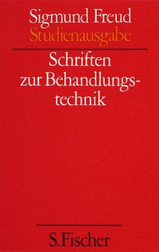 Ergänzungsband: Schriften zur Behandlungstechnik