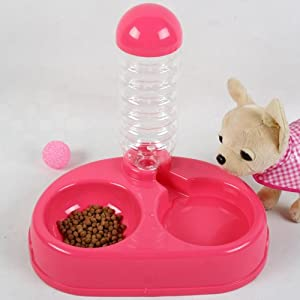 Pet Drinking Fountain Dog Food Bowl Automatic Water Dog Bowl of Water Bowls Double Bowl of Anti-skid Dog Supplies