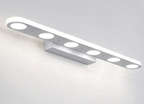 mabor lmpara de bao tocador luz w cm para pared frontal de espejo de maquillaje contra niebla impermeable ligero moderno adecuada para bao