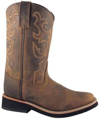 Smoky Mountain Kids Western Pueblo Boots - Dark Crazy Horse Child 9