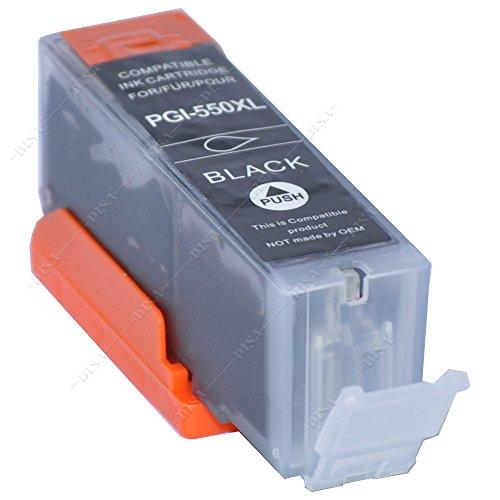 1 x Tintenpatrone mit Chip kompatibel zu PGI-550BK Black Canon Pixma MX-Serie MX720 Series / MX725 / MX920 Series / MX925