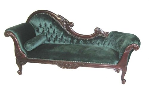 Extravagantes exklusives Chaiselongue Empire Stil Sofa 10-grün-links