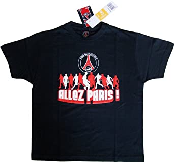 t shirt paris saint germain psg tee shirt maillot enfant gar on football supporter taille. Black Bedroom Furniture Sets. Home Design Ideas