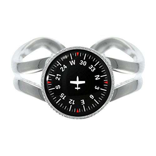 pilot-navigation-compass-design-silver-plated-adjustable-ring