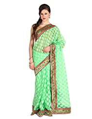 Mina Bazaar Brasso And Net Saree With Blouse Piece - B00NSCQTRA
