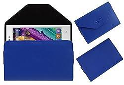 Acm Premium Pouch Case For Digimac 3x Flip Flap Cover Holder Blue