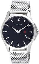 [グッチ]GUCCI 腕時計 Gタイムレス ブラック文字盤 YA126308 メンズ 【並行輸入品】