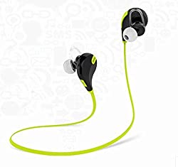 Mactrem QCY QY7 Wireless Sport Stereo Music Bluetooth Headset Earphone Headphone For iPhone 5S 4S Samsung(Green& Black)