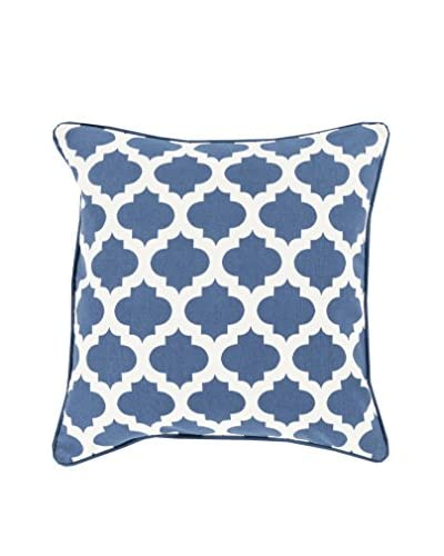 Surya Moroccan Printed Lattice Pillow