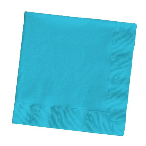 Creative Converting Touch of Color 2-Ply 50 Count Paper Lunch Napkins, Bermuda Blue - 1