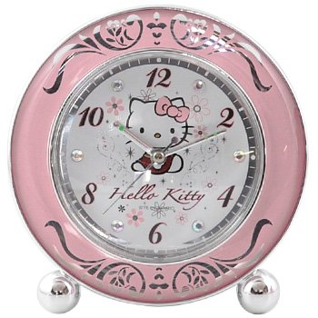 Hello Kitty Alarm Clock: Traditional/Floral Motif