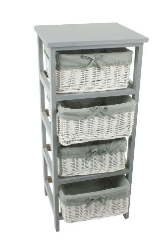 Petit meuble tiroir en osier for Meuble de rangement en osier