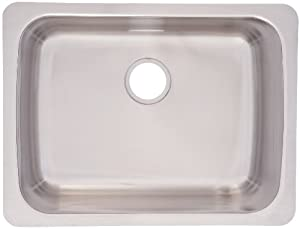 FrankeUSA USSK100-18 Single Bowl Stainless Steel 25 1/4x19 1/4in. Undermount Sink