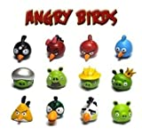 New Set of 12 PCs Iphone Game Angry Birds Green Pigs PVC Figures